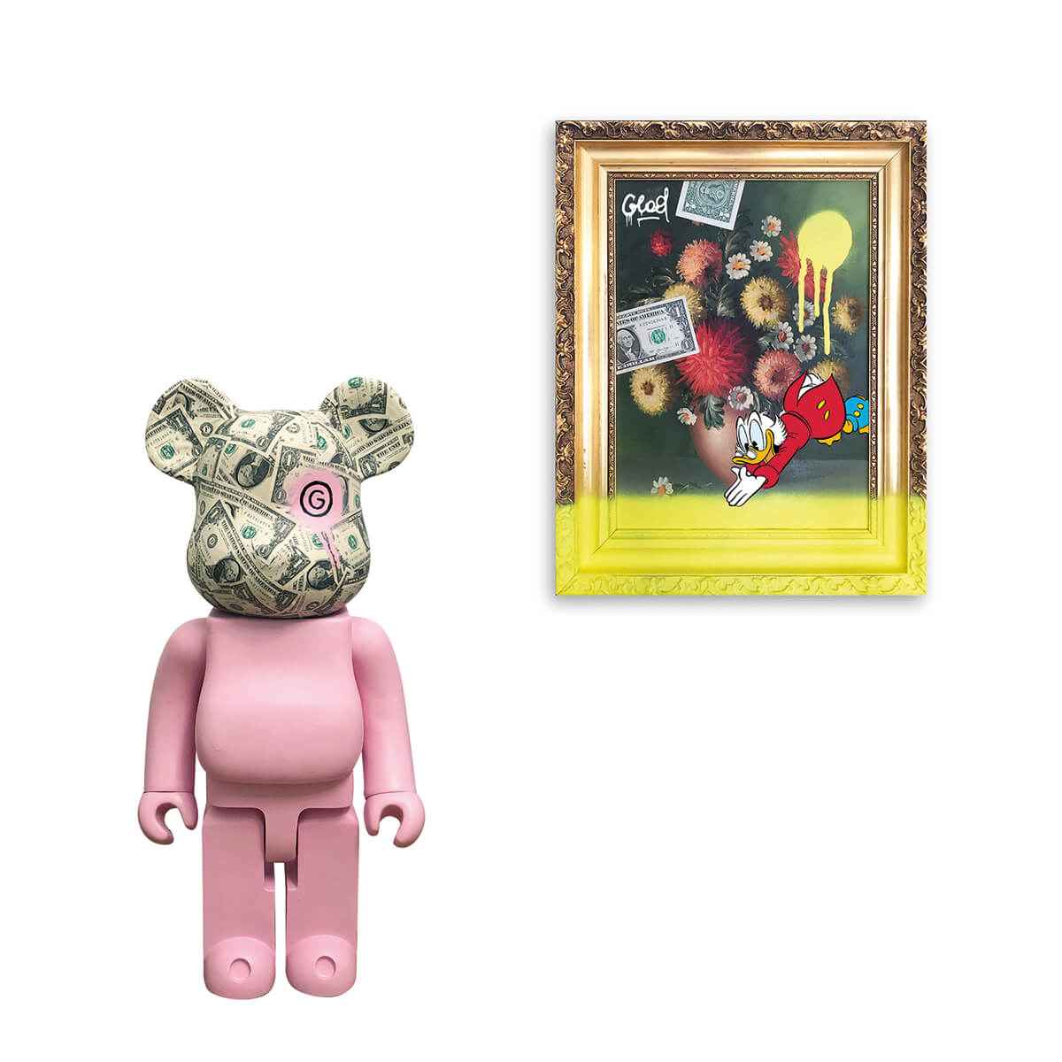Glod-Art-Dollar-Bearbrick-Antique-Serie