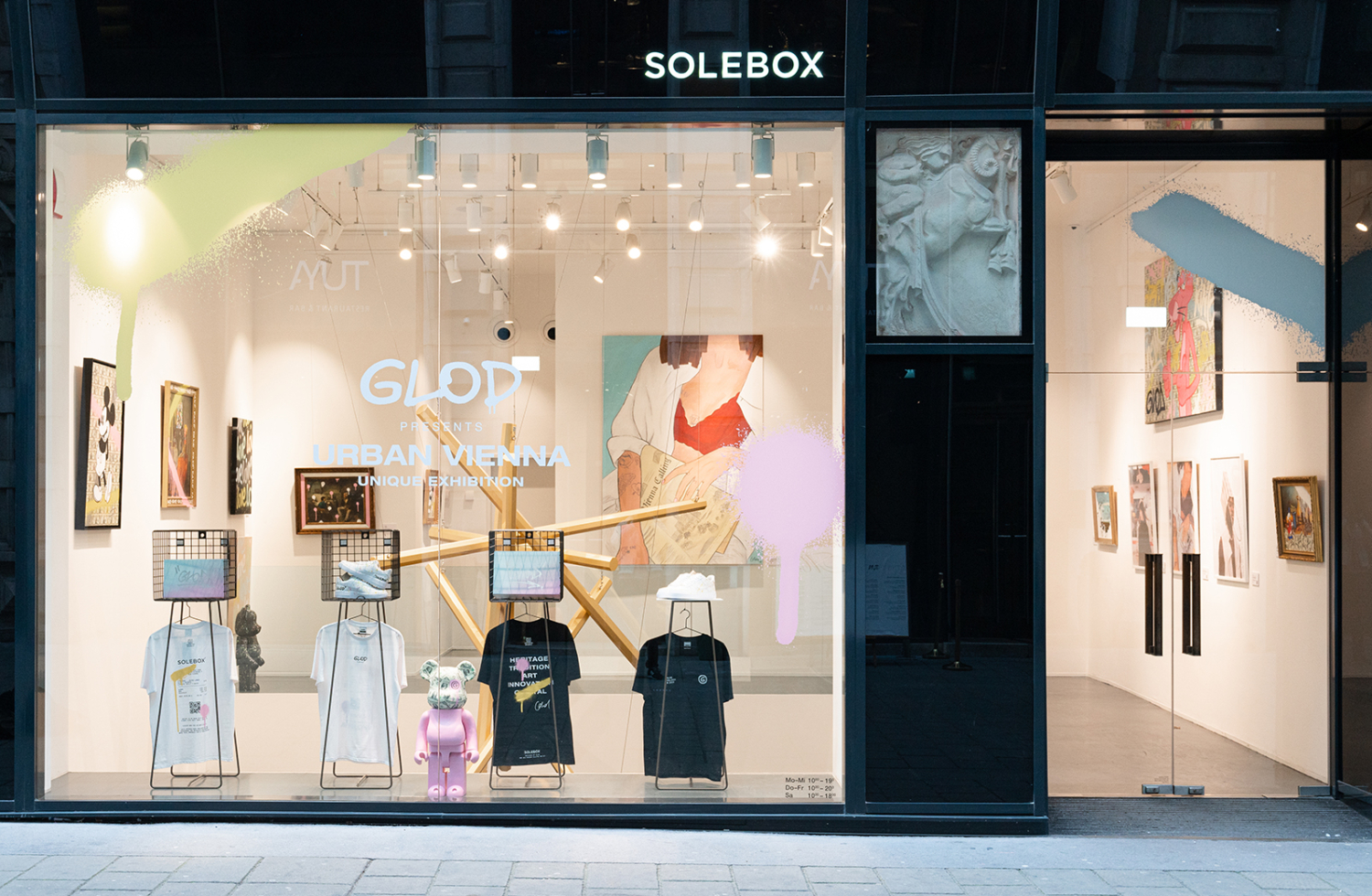 Glod Art - Exhibition and Cooperation with Solebox Store Art Space in Vienna, 2020