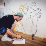 Marcin Glod working at Galaxy Fitness new Artworks